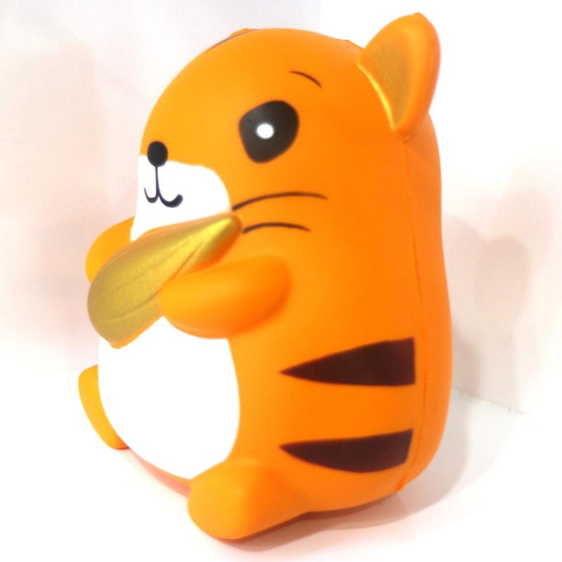 12cm Kawaii Jumbo Hamster Holding Hazelnut Squishy Toys Mouse Doll Squeeze Slow Rising Phone Strap DIY Decor Bread Kid Toys
