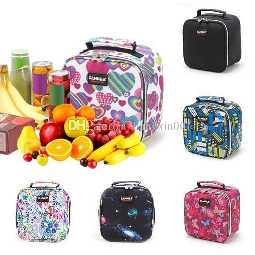 665e57f473ff Colorful Insulated Lunch Bag Portable keep Food Safe warm Big Thermal  Cooler business lunch Box school Picnic Zip Pack Waterproof Storage