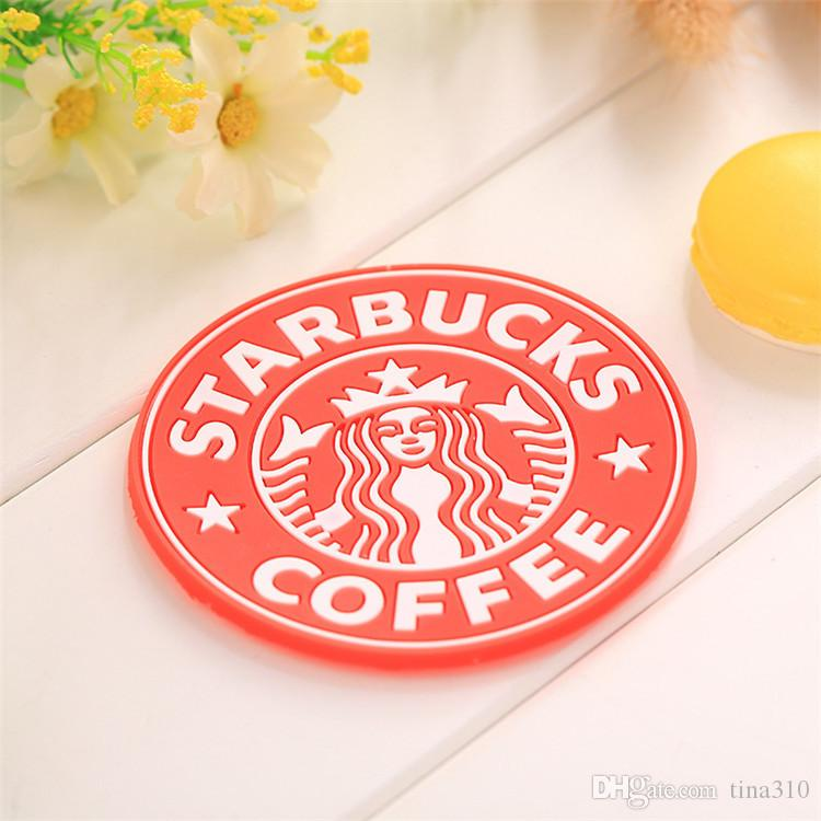 New table decoration Starbucks Mermaid silicone coaster round antiskid Insulation mat mugs coffee cup mat T3I0084