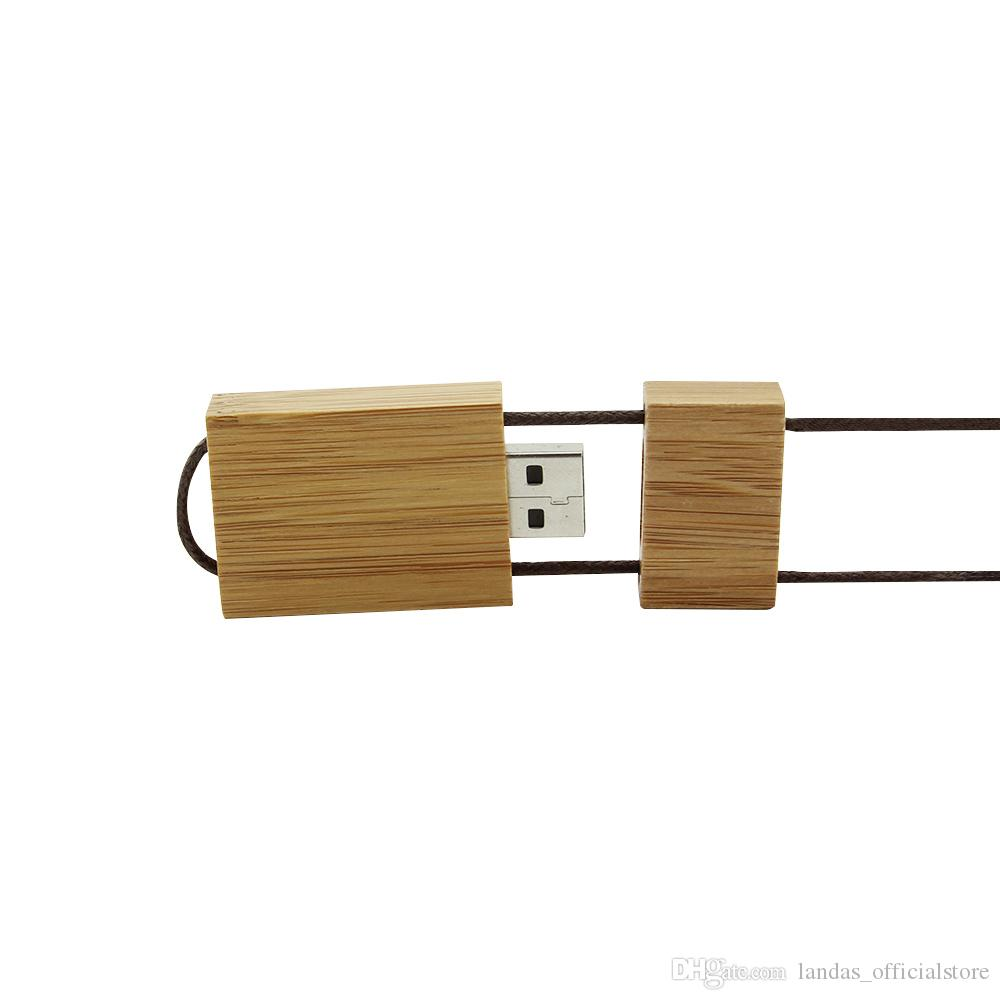 Original Wooden USB Flash Drive Pen Drive Necklace Memory Stick Pendant 4GB 8GB 16GB 32GB 64GB Pendrive U Disk New Arrival For office Home