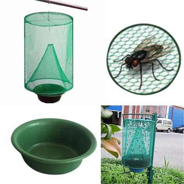 Folding Mosquito Capture Catching Fly Mesh Net Hanging Trappola Insetto Bug Verde Fly Catcher Killer Cage Net car