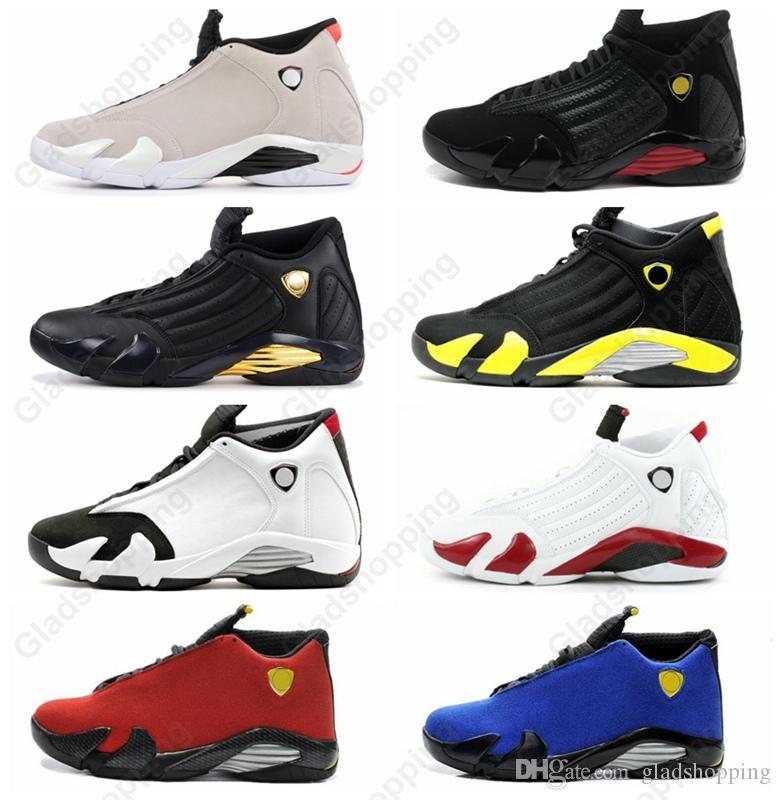 14 XIV Desert Sand Last Shot Thunder Playoffs Black Toe DMP Red Suede 14s  Men Women Basketball Shoes Trainers Sports Sneakers With Box Cool  Basketball Shoes ... 934db1e37