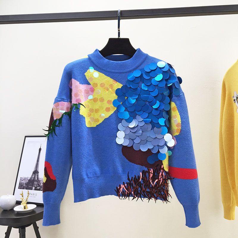 9dd84a47b Liva Girl 2018 Spring New Fashion Women Sweaters Full Sleeve O-Neck ...