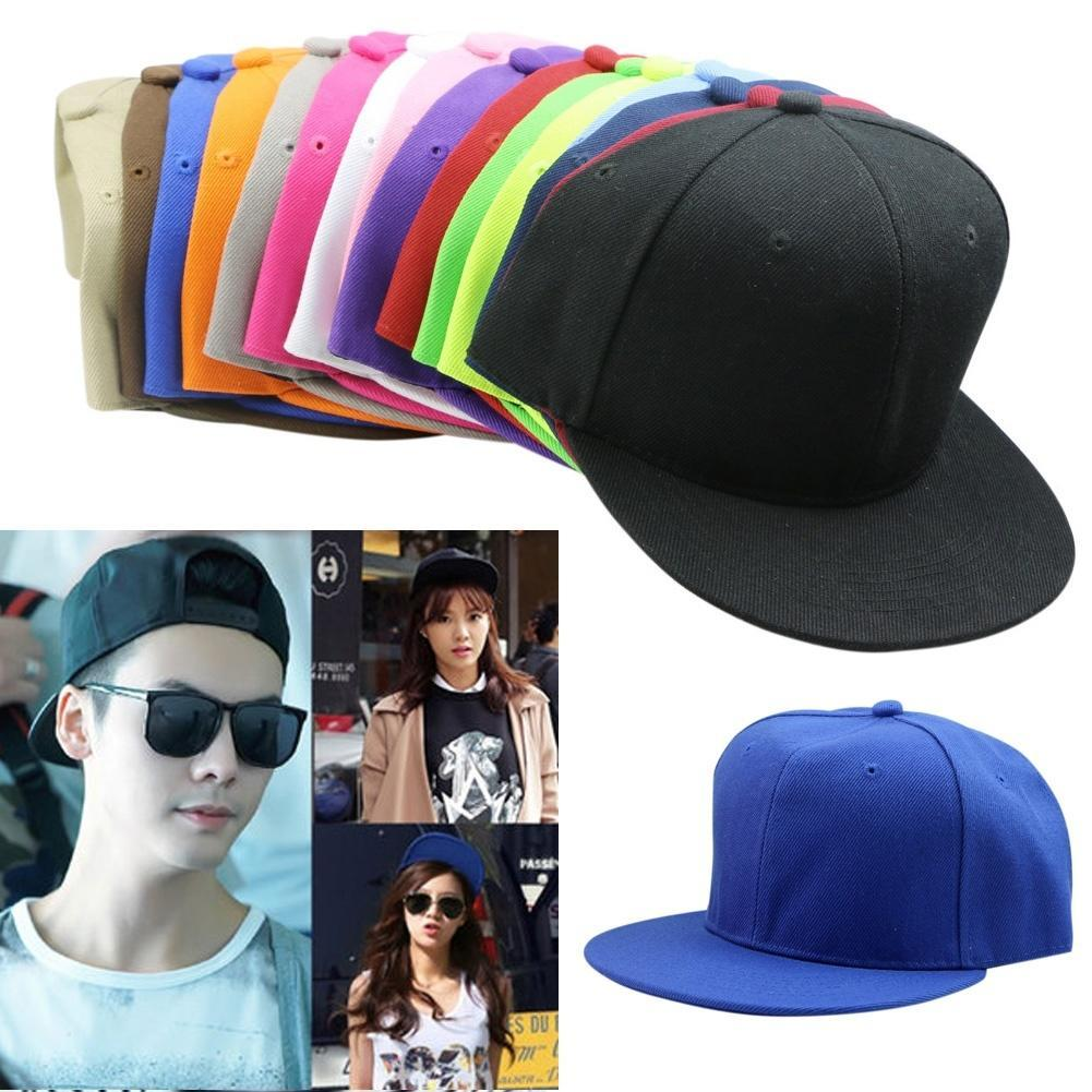 6bdbe39b6 Blank Plain Snapback Hats Unisex Men s Hip-Hop Adjustable B-boy Baseball  Cap SL