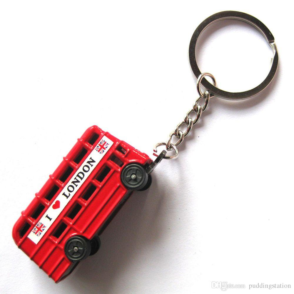 London Bus Keychain British Red Bus Keychain Double Decker Bus Key Ring  Leather Key Chain Leather Key Fob From Puddingstation 4ea446542