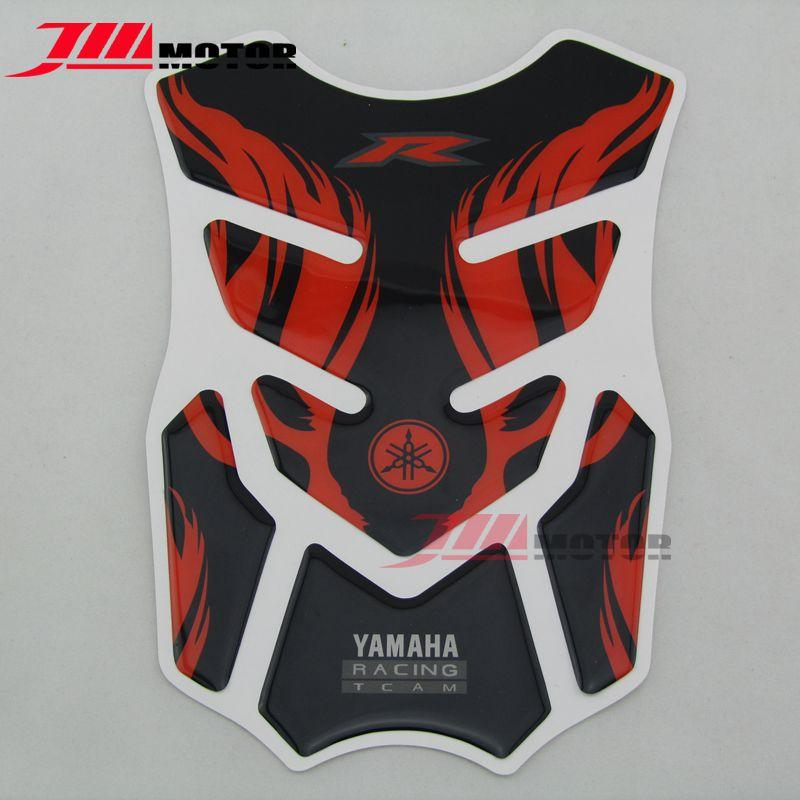 For Yamaha Fv400 Yzf R1 R6 Fz6 Fz1 Universal Red Color Motorcycle Accessory 3m Adesivi Emblem Protection Tank Pad Decal Sticker
