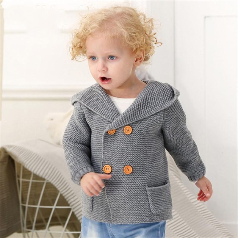 0f06d45bb Winter Sweaters Baby Coat Girls Cardigans Autumn Hooded Newborn Boys ...