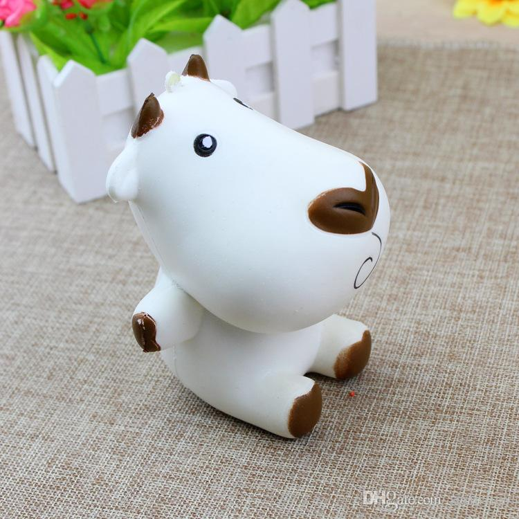 Super Cute Big Milk Cow Squishy Jumbo Cartoon Slow Rising Toy Phone Straps Charms Scented Pendant Bread Cake Fun Kid Toy Gift