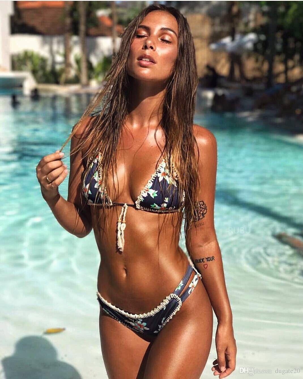 413b5397341 2019 2018 Sexy Summer Hot Swimwear Swimsuit Women Ladies Sexy Swimwear  Bikini Brazilian Triangle Beach Bathing Suit Vintage Bikini Set From  Dugate20