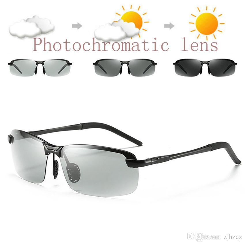 dd28b282888 Mens Driving Sunglasses Transition Lens Black Gray Frame HD Polarized Sun Glasses  Photochromic Sunglasses Pilot UV400 Anti Glare Best Sunglasses For Men ...