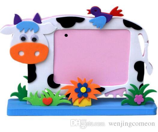 EVA Schiuma Cartoon Photo Frame bambini Bambino FAI DA TE 3D Adesivi Handmade Block Toy Pasta Photo Frame Craft