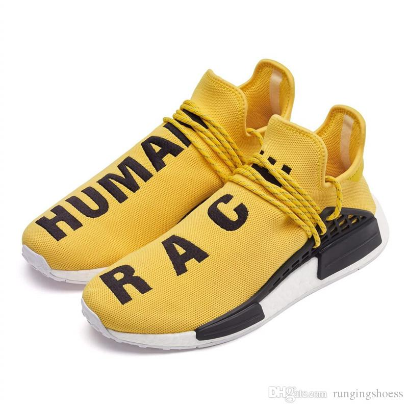 Human RACE HU nmd Pharrell Williams Trail Mens Designer Sports neutral spikes Running Shoes for Men Sneakers Women Casual Trainers shoe