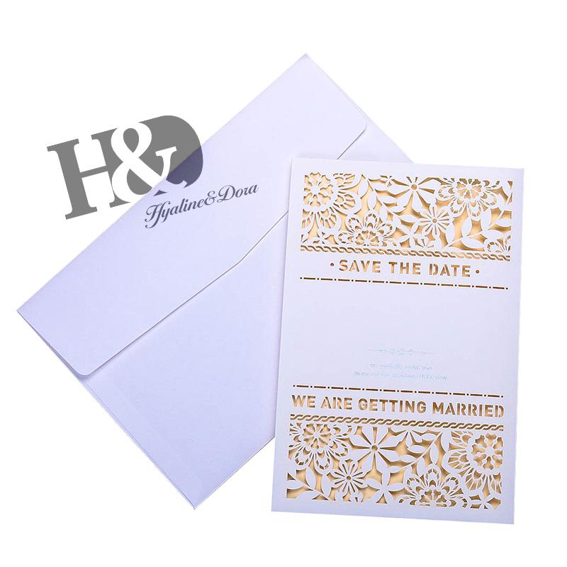 hd laser cut flower invitation cards lace invitation kit for wedding anniversary bridal shower birthday with envelope send a greeting card send card from