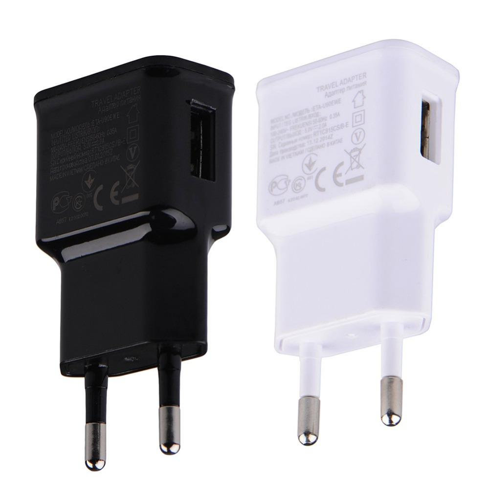 Usb Wall Charger 5v 2a Ac Travel Home Adapter Us Eu Plug For Circuit Universal Smartphone Android Phone White Black Color Mobile Charging Wireless
