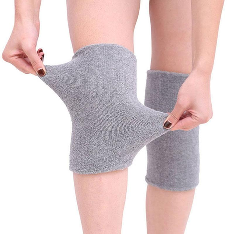 2 pcs Breathable Warm Non-slip Dance Ski Knee Pads Sport Leg Sleeve Kneelet Soft Knee Pad Support warm protection