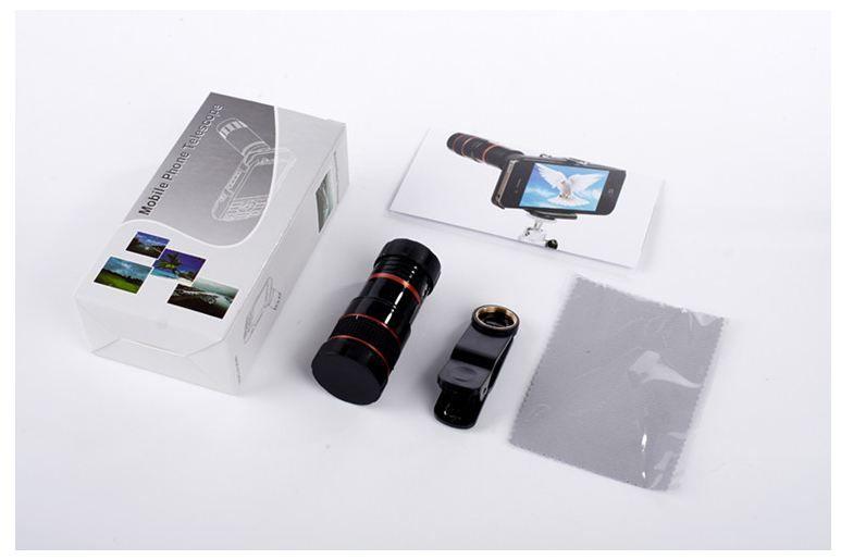 새로운 8 배 줌 광학 전화 망원경 휴대용 휴대 전화 망원 카메라 렌즈 및 아이폰에 대한 클립 삼성 HTC 화웨이 LG 소니 등