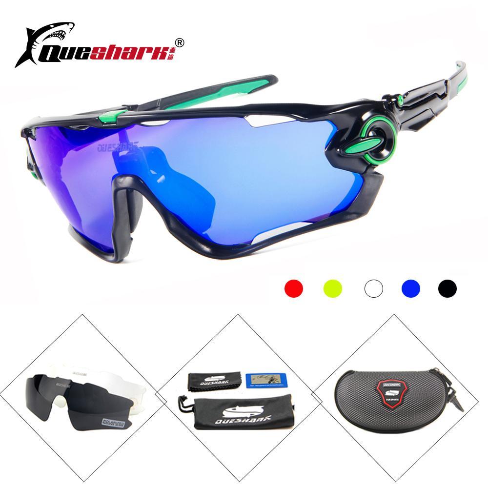 Compre Queshark 3 Lente Polarizada Ciclismo Óculos De Sol Mountain Bike  Óculos De Proteção Uv400 Ciclismo Eyewear Bicicleta Óculos De Sol 3 Estilos  De Hougo ... 0e379886f0