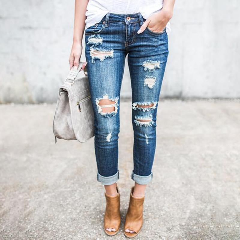 Acquista Jeans Donna Jeans Con Vita Alta Jeans Donna Alta Elastica Bucata Strappata  Pantaloni Leggeri A Matita Skinny Lavato Chiaro A  36.93 Dal ... f16a1aa7d98