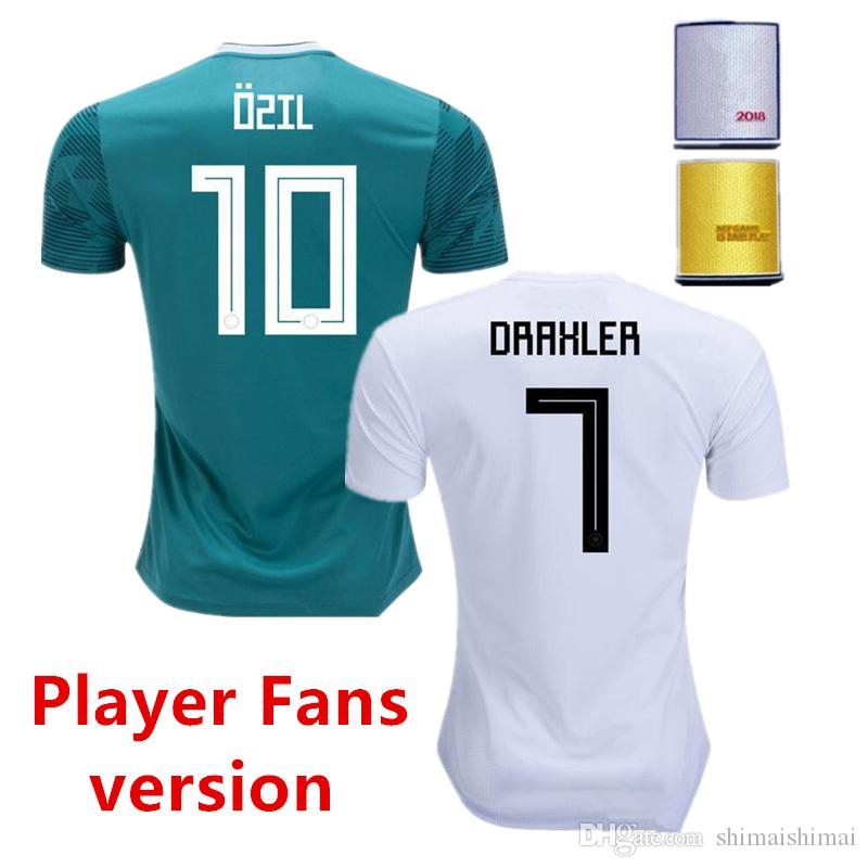 9bfa037f3d7 MEns Soccer Jersey 2018 WORLD CUP GERMany OZIL HUMMELS KROOS WERNER MULLER  DRAXLER Football Shirt Uniforms Player Edition Fans Version 18 19 GERMany  Jersey ...