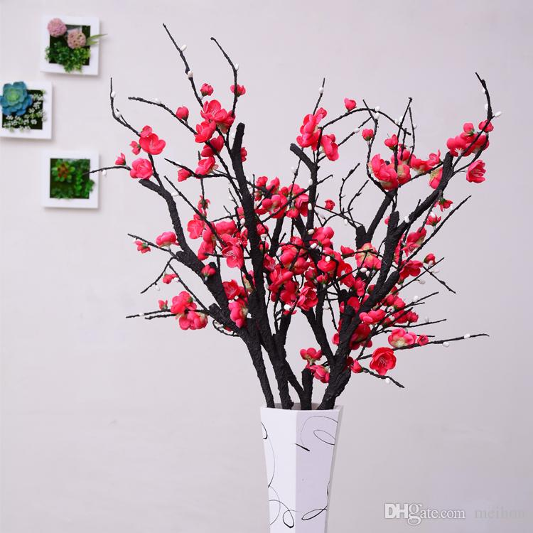 acheter nouvel an chinois fleurs artificielles fleur de prunier plantes artificielles branche d. Black Bedroom Furniture Sets. Home Design Ideas