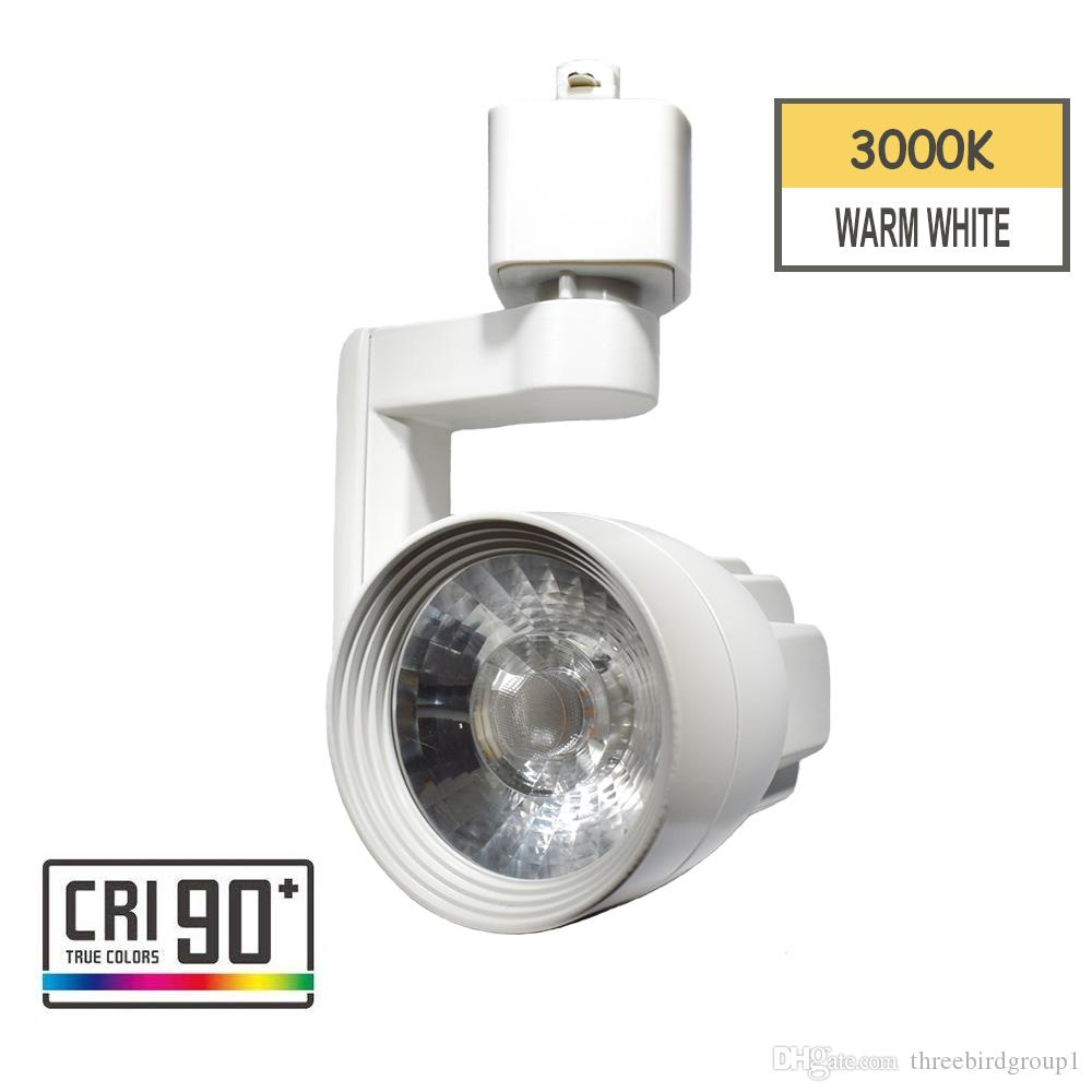 Led Track Light Head Track Lighting Fixture Integrated Cri90 With 3000k Warm White 110v 12w Adjustable Angle Fit H Type Track System White