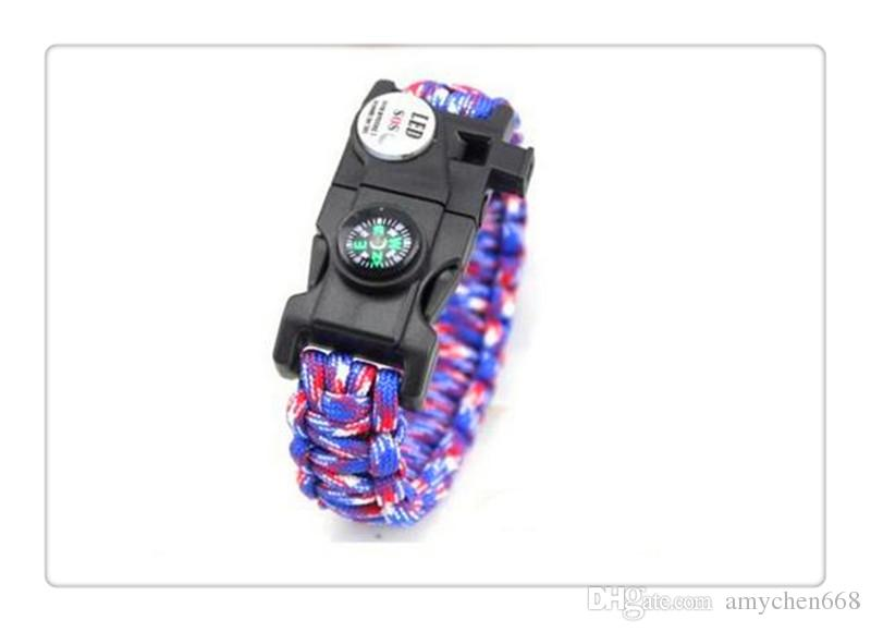 Mix Styles Football Team Paracord Survival Bracelets Custom Made Camping Sports Bracelet Customized logo team umbrella bracelet