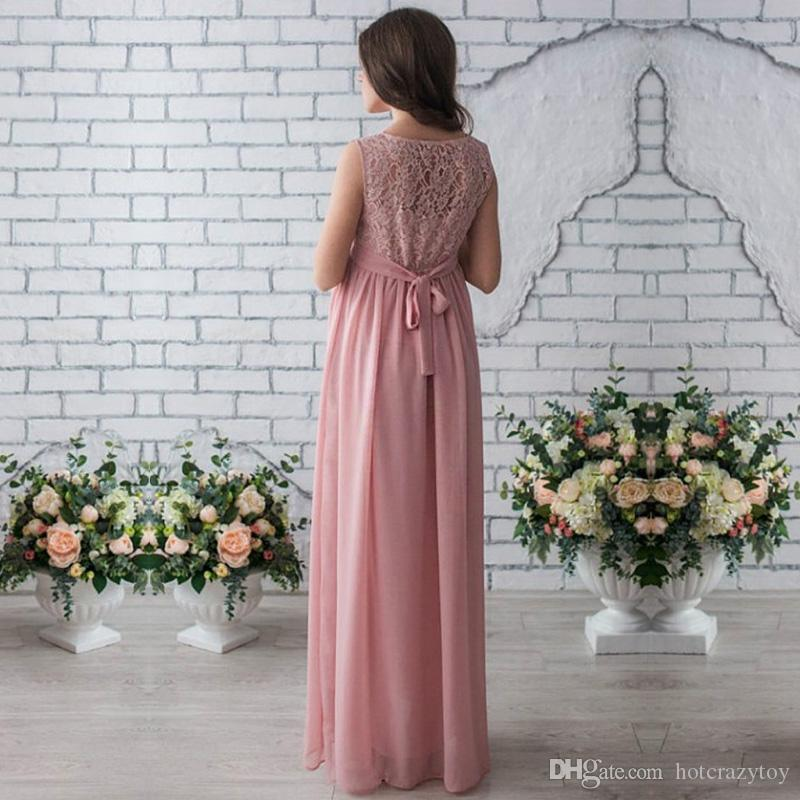 new Lace Maternity Dresses Maternity Photography Props Women Long Maxi Dress Sexy Gown Lace O-Neck Pregnancy Dress