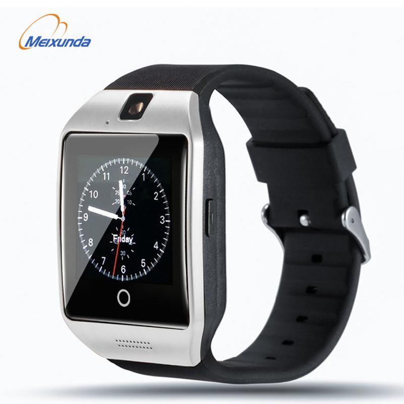 fcaccd28f973 Relojes Baratos Hombre Q18 Reloj Inteligente Para Hombres Con Pantalla  Táctil Gran Reloj Para Hombres Soporte TF Cámara Tarjeta SIM Para Teléfonos  ...