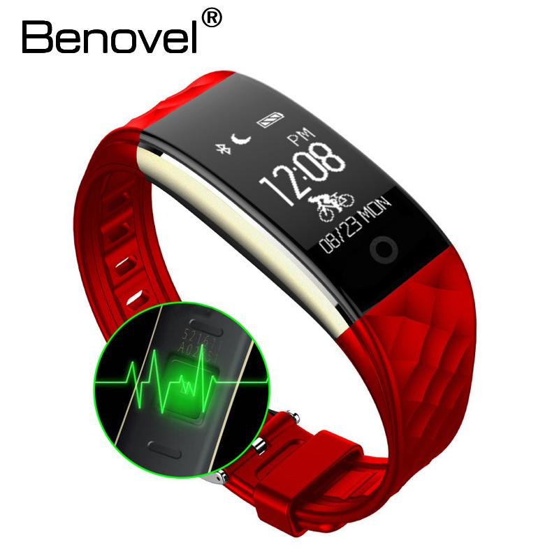 Tragbare Geräte Benovel T2 Bluetooth Smart-armband Heart Rate Monitor Smartband Fitness Tracker Armband Für Ios Android Pk Xiao Mi Mi Band 2 Intelligente Armbänder