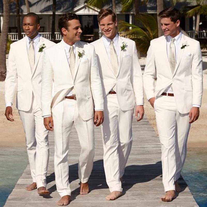 Hochzeits-partykleid jacke + Hose Nach Maß Weiß Slim Fit Dünne 2 Stück Klassische Braut Hochzeit Kleidung