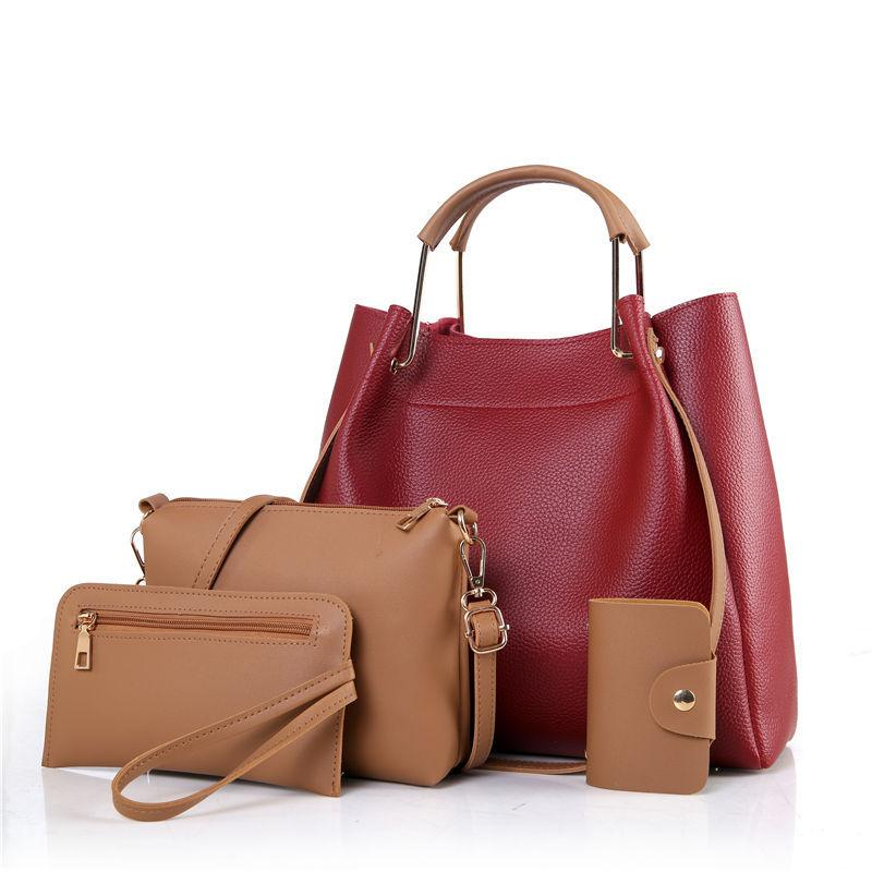 1c055f8561b2 Women Handbags Set Shoulder Bag Soft Leather Crossbody Bags For Women Girls Casual  Tote Messenger Bag Women Handbags Crossbody Shoulder Bags for Women ...