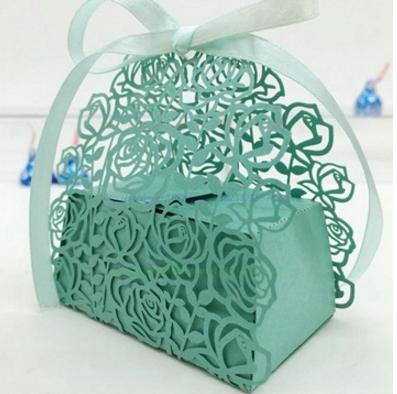 Wedding Supplies Hollow Rose Flower Candy Boxes Party Decor Favor Boxes Ribbon Gifts Holder Chocolate Bags