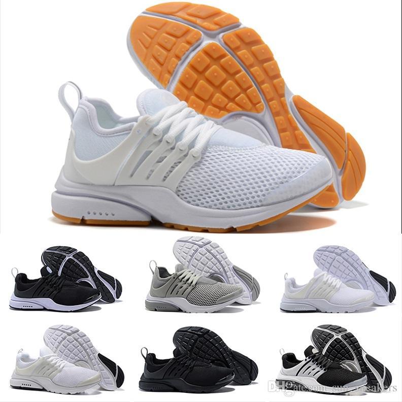 9552aab55542 Acheter Nike Air Presto Ultra Low Running Shoes Meilleur Qualité Prestos 5  V Chaussures De Course Hommes Femmes 2018 Presto Ultra BR QS Jaune Rose  Noir Oreo ...