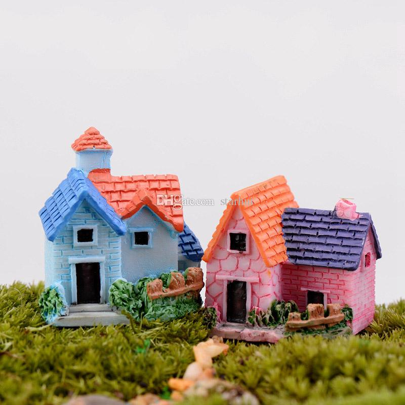Micro Landscape Garden Decorations Mini House Cottages Bee Insects Mushroom Rabbit Potted Plants Craft Miniature Fairy Garden Toys WX9-588