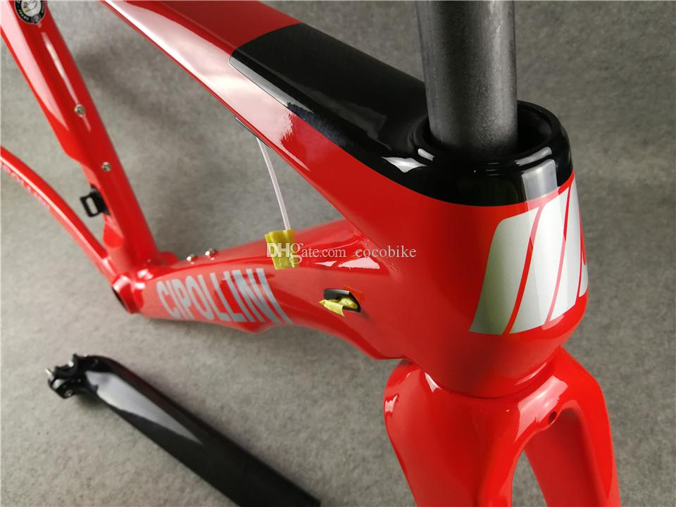Silver decals Red T1000 MCipollini RB1K THE ONE carbon road frames Cipollini with BB86 3K/UD/1K Matte Glossy for selection
