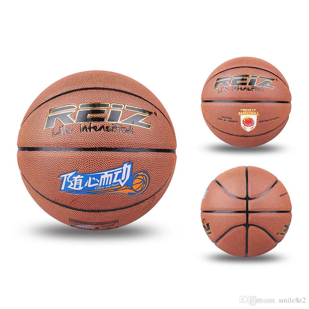Reiz كرة السلة في الهواء الطلق بو الجلود 7 Basquete غير زلة مقاومة للاهتراء الكرة مع هدية مجانية صافي إبرة ممارسة الرياضة التدريب الداخلي