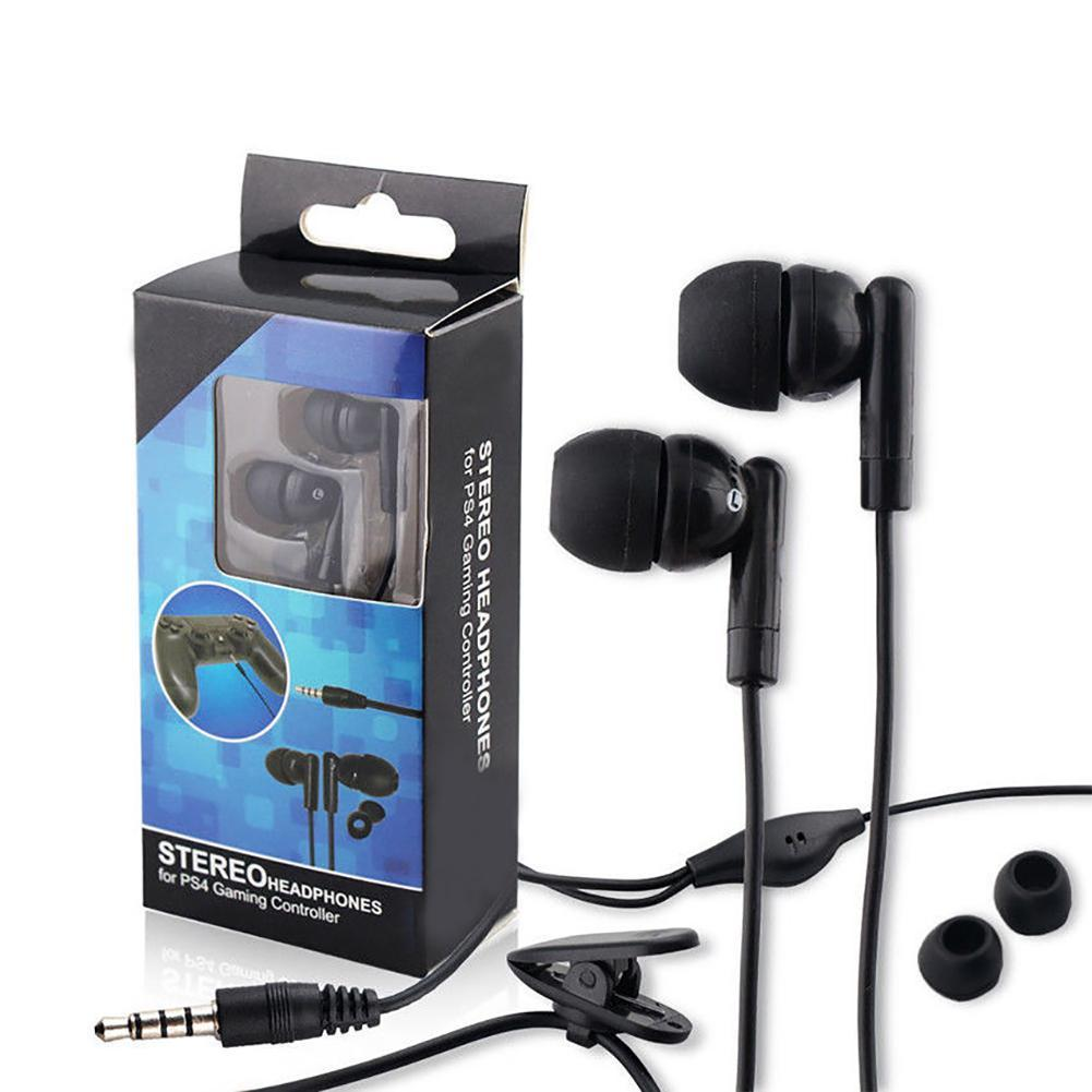Fashion Wired In-Ear Earphones Microphone Clip Gaming Headset for PS4 Xbox  One Gamepad