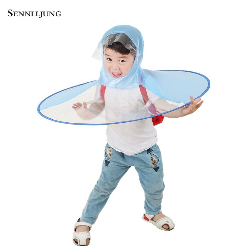 dc4f54c6270 2019 Creative UFO Rain Hat Portable Folding Umbrella Children Free Hand Rain  Cape Poncho Cover For Kids Students Adult Office Workers From Anzhuhua, ...