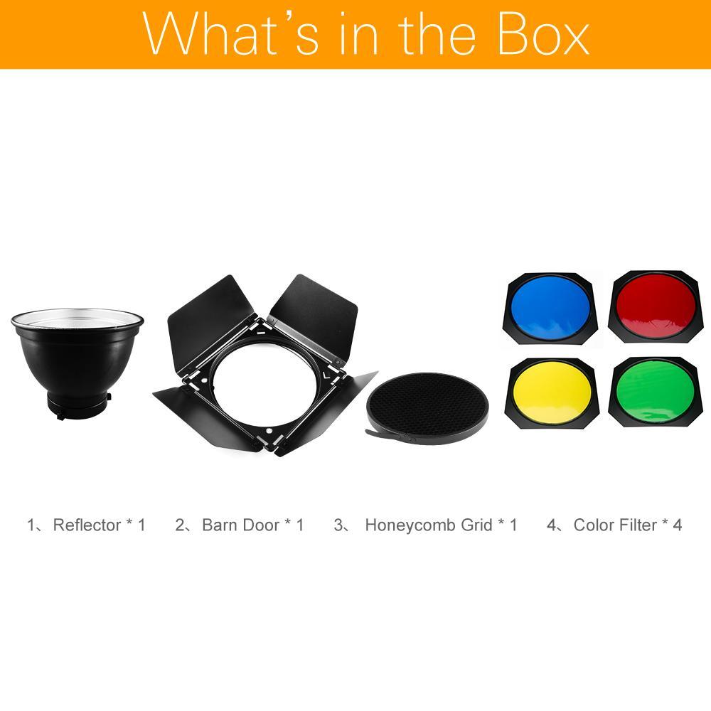 2019 Reflector Hps Godox Bd 04 Barn Door Honeycomb Grid Filter