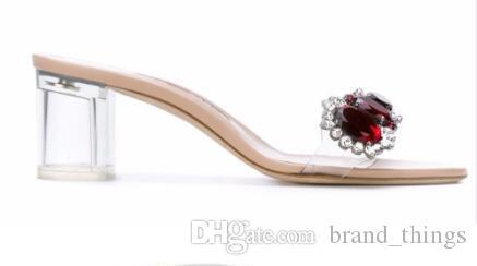 2018 Stud Sandales Sexy Talon Aiguille Diamant Talons Hauts Noir Pompe À Robe Gladiateur Strappy Sandales Femme Chaussures