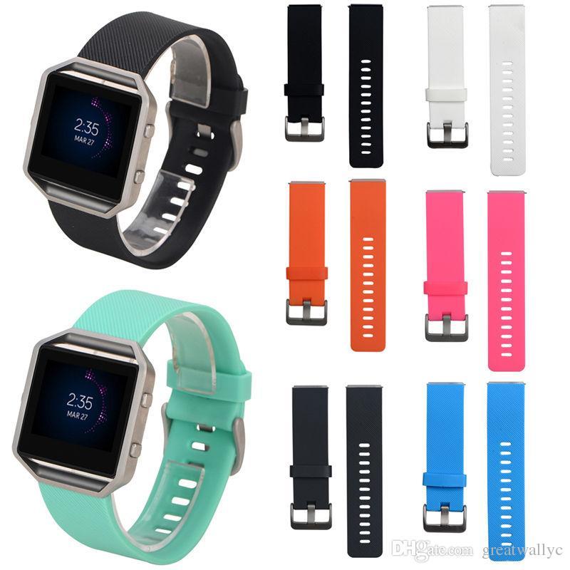 실리콘 손목 시계 고품질 교체 손목 밴드 실리콘 스트랩 Fitbit 블레이즈 스마트 피트니스 시계 팔찌