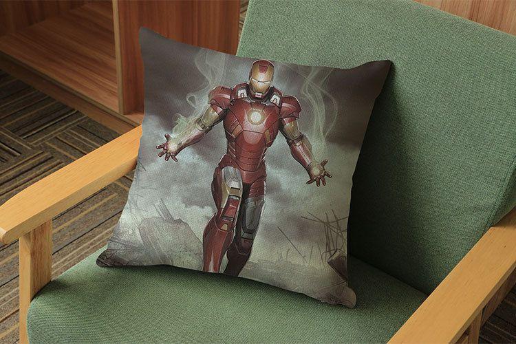 Batman Pillow Case 45*45CM Justice League Iron Man Pillow Cushions Pillowcase Cushion Without Filling Decorative Pillow