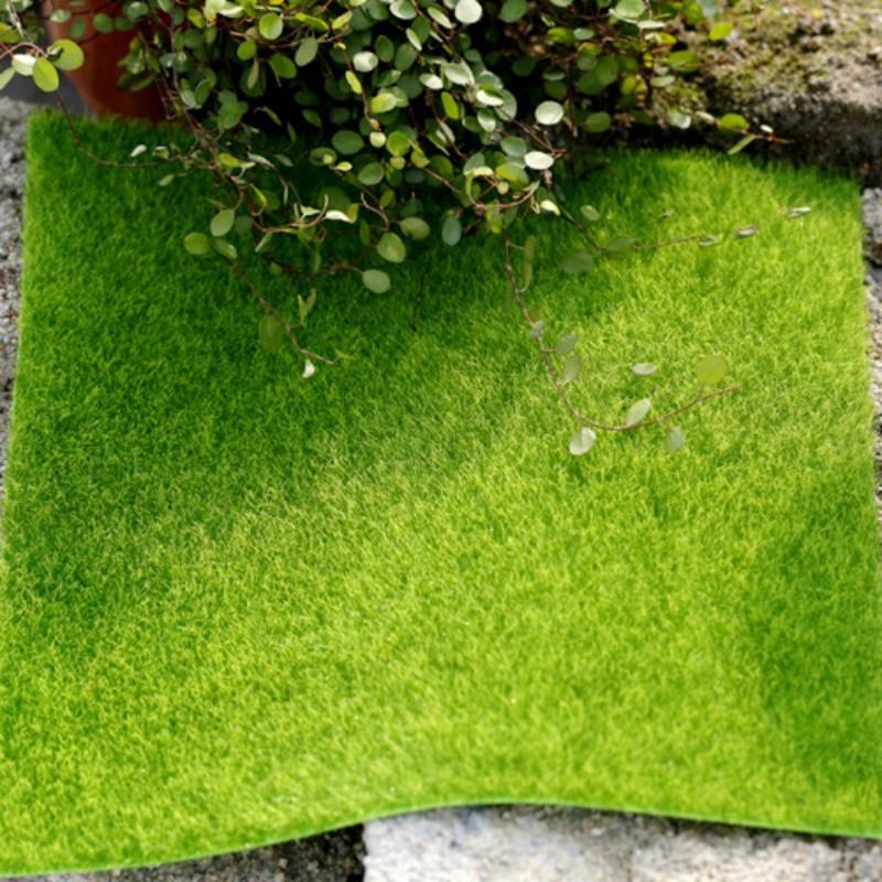 Yapay çim çim 15 * 15 cm peri bahçe minyatür çim yosun teraryum dekor reçine el sanatları bonsai ev dekor için DIY Zakka Ücretsiz Kargo