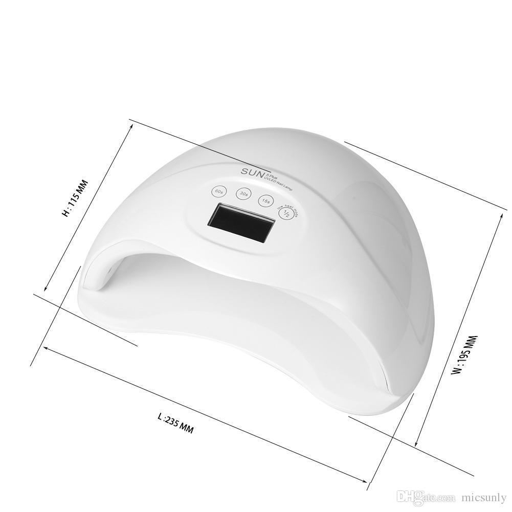MICSUNLY 48W sun5 plus UV Led Nail Lamp Dryer Cure UV LED Gels Polish Nail Art Tools 24LEDs LCD Timer Touch Button Double Light Auto Sensor