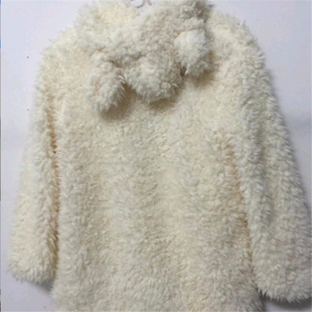 Hooded Outwear Winter Warm Women Fashion Design Women's Coats White Long Sleeve Loose Pocket Streetwear Hooded Ladies Coat 2017
