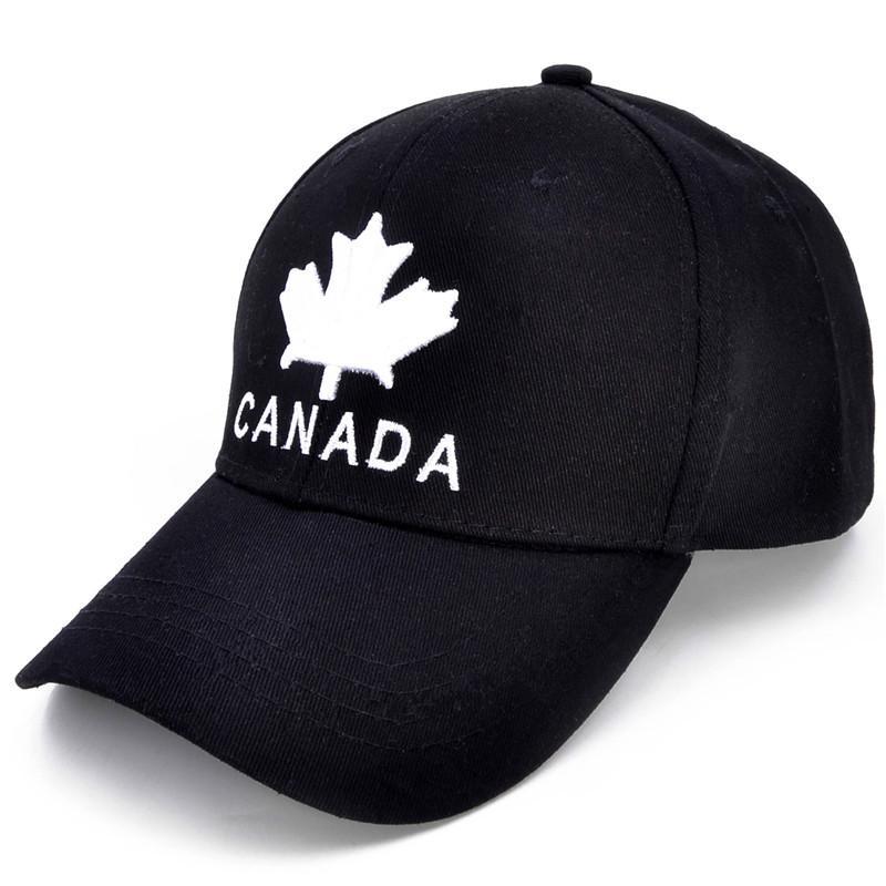 7bfd39ca3 Maple Leaf Cotton Baseball Cap CANADA Adjustable Hip Hop Hat Women Men  Summer Unisex Snapback Hats