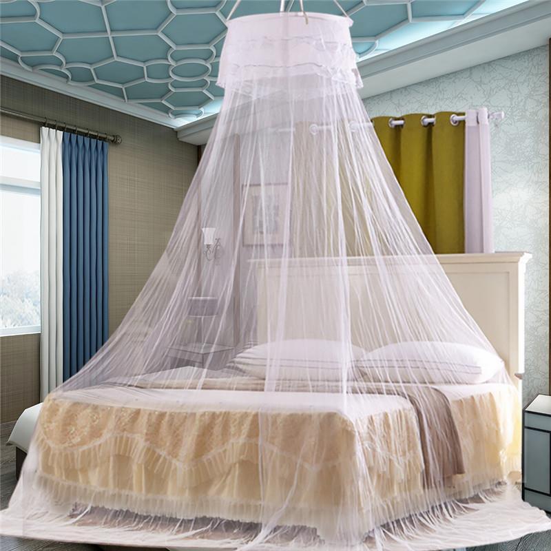 Letto rotondo Zanzariera Letto matrimoniale con zanzariera traspirante e  romantica Letto a baldacchino a baldacchino per l arredo della camera