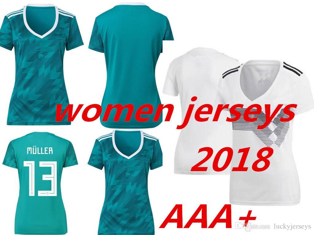 a08effb87d2 2018 World Cup Germany Women Jerseys Futbol Camisas Ozil Muller ...