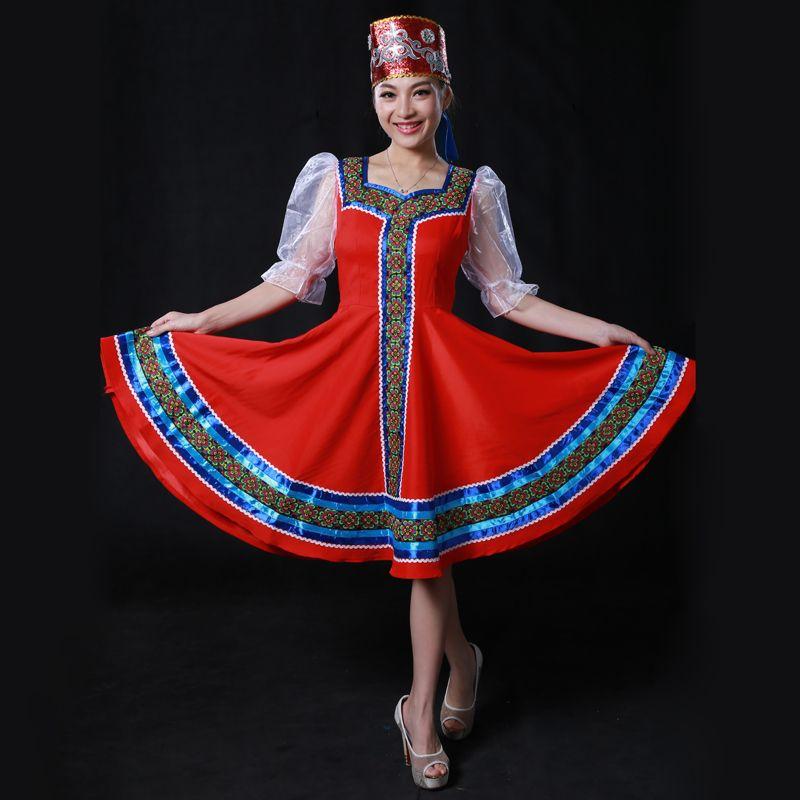 058d53f7f3a Купить Оптом Выполненные На Заказ Русские Народные Танцевальные Костюмы С  Головными Уборами Головы