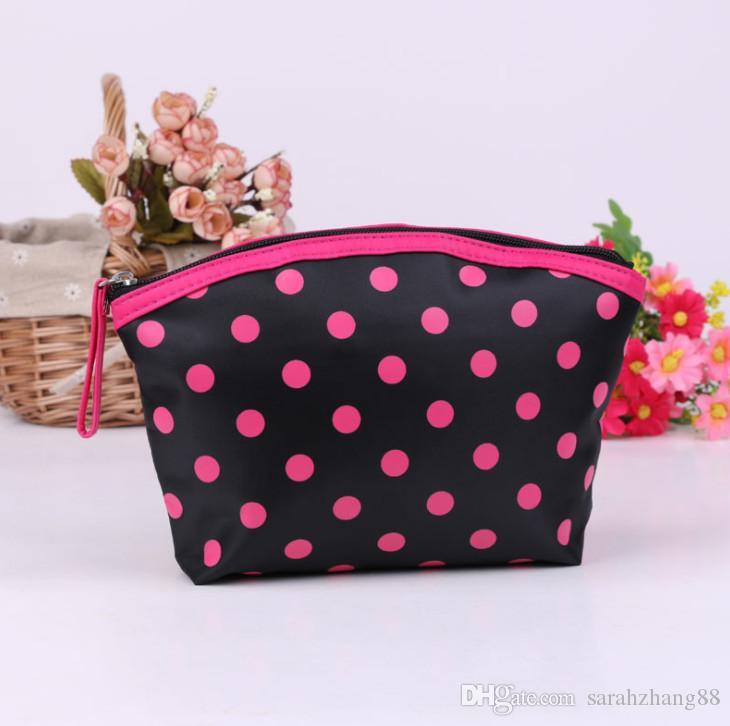 Bolso cosmético de la bolsa del artículo de tocador de la impresión de los lunares - bolso multifuncional del bolso del maquillaje del organizador del viaje con el cierre de la cremallera para ¡Promoción de las mujeres!